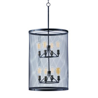 Palladium 8 Light 20 inch Black/Natural Aged Brass Chandelier Ceiling Light