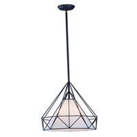 Maxim 20254WLBK TeePee 1 Light 20 inch Black Single Pendant Ceiling Light