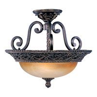 Maxim Lighting Portofino 3 Light Semi Flush Mount in Oil Rubbed Bronze 20281VAOI