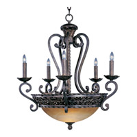 Maxim Lighting Portofino 8 Light Multi-Tier Chandelier in Oil Rubbed Bronze 20285VAOI