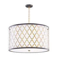 Crest 4 Light 24 inch Oil Rubbed Bronze and Antique Brass Single Pendant Ceiling Light