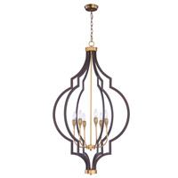 Maxim 20296OIAB Crest 6 Light 26 inch Oil Rubbed Bronze and Antique Brass Chandelier Ceiling Light