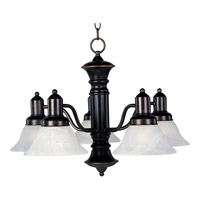 Maxim 20325MROI Newburg 5 Light 25 inch Oil Rubbed Bronze Down Light Chandelier Ceiling Light