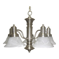 Newburg 5 Light 25 inch Satin Nickel Down Light Chandelier Ceiling Light