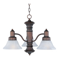 Maxim Lighting Newburg 3 Light Down Light Chandelier in Oil Rubbed Bronze 20326MROI