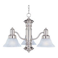 Maxim 20326MRSN Newburg 3 Light 23 inch Satin Nickel Down Light Chandelier Ceiling Light