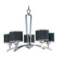 Maxim Lighting Salon 5 Light Single Tier Chandelier in Polished Chrome 20375BKPC