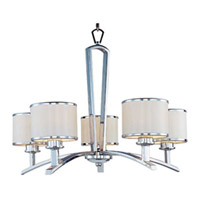 Maxim Lighting Salon 5 Light Single Tier Chandelier in Polished Chrome 20375WTPC