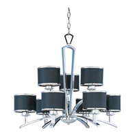 Maxim Lighting Salon 9 Light Multi-Tier Chandelier in Polished Chrome 20376BKPC