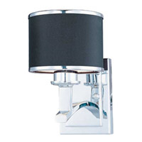 Maxim Lighting Salon 1 Light Wall Sconce in Polished Chrome 20379BKPC photo thumbnail
