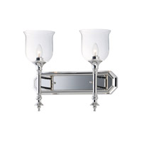 Maxim 20474CLPN Centennial 2 Light 18 inch Polished Nickel Bath Vanity Wall Light