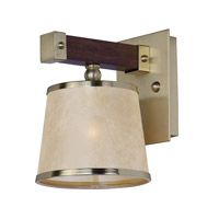 Maritime 1 Light 7 inch Antique Pecan and Satin Brass Wall Sconce Wall Light