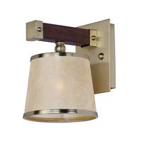 Maxim 20521AFAPSBR Maritime 1 Light 7 inch Antique Pecan and Satin Brass Wall Sconce Wall Light