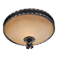 Aspen 2 Light 13 inch Oil Rubbed Bronze Flush Mount Ceiling Light