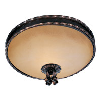 Aspen 3 Light 16 inch Oil Rubbed Bronze Flush Mount Ceiling Light