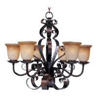 Maxim 20607VAOI Aspen 6 Light 30 inch Oil Rubbed Bronze Single Tier Chandelier Ceiling Light