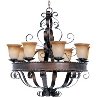 Maxim 20610VAOI Aspen 8 Light 35 inch Oil Rubbed Bronze Single Tier Chandelier Ceiling Light