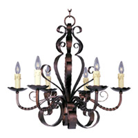 Maxim Lighting Aspen 6 Light Single Tier Chandelier in Oil Rubbed Bronze 20612OI