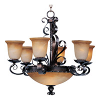 Maxim 20613VAOI Aspen 9 Light 30 inch Oil Rubbed Bronze Multi-Tier Chandelier Ceiling Light
