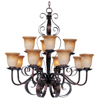 Maxim 20614VAOI Aspen 12 Light 38 inch Oil Rubbed Bronze Multi-Tier Chandelier Ceiling Light