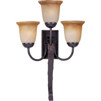 Aspen 3 Light 17 inch Oil Rubbed Bronze Wall Sconce Wall Light