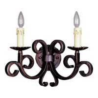 Maxim Lighting Verona 2 Light Wall Sconce in Oil Rubbed Bronze 20633OI
