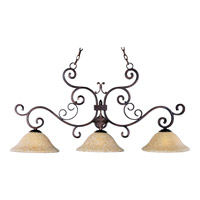 Verona 3 Light 48 inch Oil Rubbed Bronze Island Pendant Ceiling Light