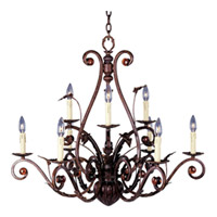 Maxim Lighting Nouveau 9 Light Multi-Tier Chandelier in Windsor Bronze 20655WB photo thumbnail