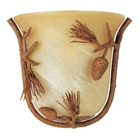 Maxim Lighting Pine Grove 1 Light Wall Sconce in Pine Tree 20708AVPT