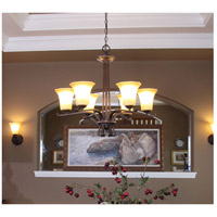 Maxim Lighting Chelsea 6 Light Single-Tier Chandelier in Weathered Russet 20885WSWR photo thumbnail