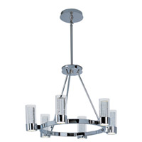 Sync 6 Light 27 inch Polished Chrome Single-Tier Chandelier Ceiling Light