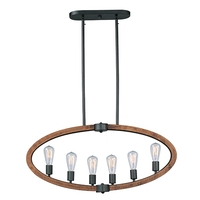 Maxim 20913APAR/BUI Bodega Bay 6 Light 36 inch Anthracite Linear Pendant Ceiling Light in With Bulb