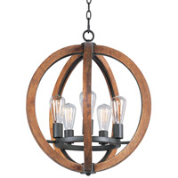 Maxim 20917APAR/BUI Bodega Bay 5 Light 19 inch Anthracite Chandelier Ceiling Light in With Bulb