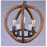 Maxim 20917APAR/BUI Bodega Bay 5 Light 19 inch Anthracite Chandelier Ceiling Light in With Bulb alternative photo thumbnail