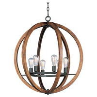 Maxim 20918APAR Bodega Bay 6 Light 30 inch Anthracite Chandelier Ceiling Light in Without Bulb