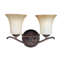 Maxim Lighting Chelsea 2 Light Bath Vanity in Weathered Russet 20990WSWR photo thumbnail