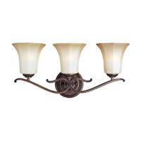 Maxim Lighting Chelsea 3 Light Bath Vanity in Weathered Russet 20991WSWR photo thumbnail