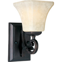 Maxim Lighting Oak Harbor 1 Light Wall Sconce in Rustic Burnished 21063FLRB