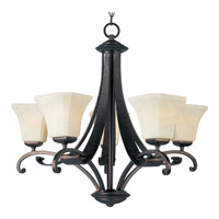 Maxim Lighting Oak Harbor 5 Light Single Tier Chandelier in Rustic Burnished 21065FLRB