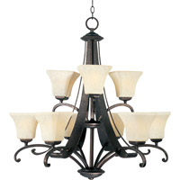 Maxim 21066FLRB Oak Harbor 9 Light 32 inch Rustic Burnished Multi-Tier Chandelier Ceiling Light