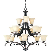 Maxim Lighting Oak Harbor 15 Light Multi-Tier Chandelier in Rustic Burnished 21067FLRB
