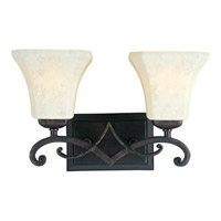 Oak Harbor 2 Light 15 inch Rustic Burnished Bath Light Wall Light