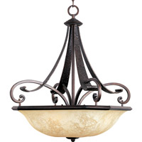 Maxim Lighting Oak Harbor 4 Light Pendant in Rustic Burnished 21077FLRB