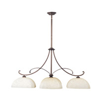 Maxim Lighting Oak Harbor 3 Light Island Pendant in Rustic Burnished 21079FLRB