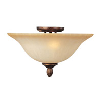 Maxim Lighting Sausalito 3 Light Semi Flush Mount in Filbert 21120MCFL photo thumbnail