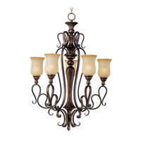 Maxim Lighting Sausalito 5 Light Single Tier Chandelier in Filbert 21125MCFL