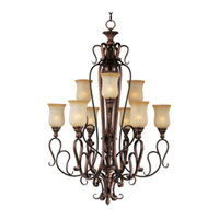 Maxim Lighting Sausalito 9 Light Multi-Tier Chandelier in Filbert 21126MCFL
