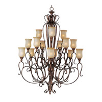 Maxim Lighting Sausalito 15 Light Multi-Tier Chandelier in Filbert 21127MCFL