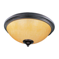 Maxim Lighting Luminous 2 Light Flush Mount in Rustic Ebony 21140SCRE