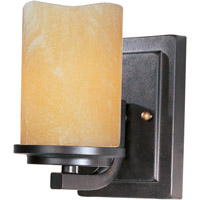 Luminous 1 Light 5 inch Rustic Ebony Wall Sconce Wall Light